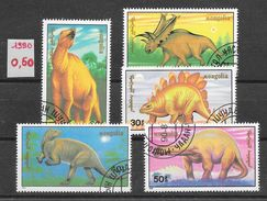 Préhistoire Dinosaure - Mongolie N°1758 à 1762 1990 O - Prehistorics