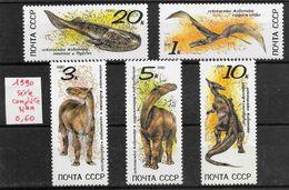 Préhistoire Dinosaure Ptérosaure - Russie N°5780 à 5784 1990 ** - Prehistorics