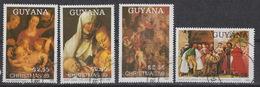 GUYANA Yvert 2151K-N – Christmas 1989 – Rubens , Dürer, Tiziano  Used - Guyana (1966-...)