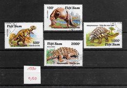 Préhistoire Dinosaure - Vietnam N°1100A à 1100D 1990 O - Prehistorics