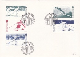 Sweden FDC 1974 Vintersport På Skidor (DD1-5) - Sci