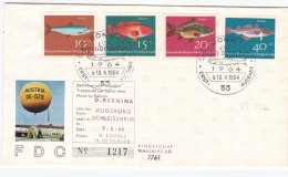 Germany FDC 1964 Für Die Jugend Posted W/Balloon D-Bernina From Augsburg (DD1-5) - Transport