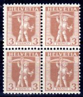 1921, Fils De Tell, YT 114, En Bloc De 4 Timbres, Neuf **, Lot 48260 - Svizzera