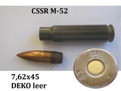 CSSR DEKO Patrone 7,62x45 Eisenhülse Modell 52 - Decorative Weapons