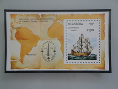 1981 Nicaragua  Yvert  BF 149  **  Bateaux Ships  Scott  Xx Michel  B 140  SG Xxx Espamer 81 - Nicaragua