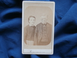 Photo CDV Maria Chambefort à Roanne - Coupl Vers 1870-75 L319 - Anciennes (Av. 1900)