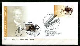 """First Day Cover Germany 2011 Michel Nr.2867""""125 Jahre Automobil,Benz-Patent-Motorwagen,Carl Benz """"1 FDC - Autos"""