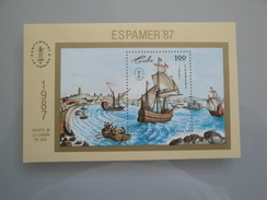 1987 Cuba  Yvert  BF 100  **  Bateaux Ships  Scott  Xx Michel  B 101  SG Xxx Espamer 87 - Blocs-feuillets