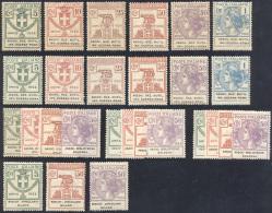 REGNO D'ITALIA, ENTI PARASTATALI 1924 - Piccolo Insieme Di Serie E Spezzature Delle Emissioni, Gomma... - Stamps
