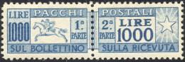 1954 - 1.000 Lire Cavallino, Filigrana Ruota (81), Ottima Centratura, Gomma Originale Integra, Perfe... - Postal Parcels