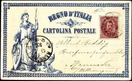 1890 - Allegoria Dell'Italia Turrita, Cartolina Postale Proposta Del Prof. Nicola Sanesi, Permessa A... - Italy