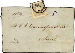 1861 - 1,05 S. Grigio Chiaro (10), Perfetto, Usato Su Fascetta Da Venezia 1/3 Ad Adria. ... - Lombardy-Venetia