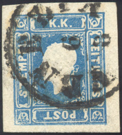 1858 - 1,05 S. Azzurro (8), Perfetto, Usato A Venezia 6/8. E.Diena. ... - Lombardy-Venetia