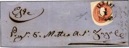 1861 - 5 Soldi Rosso, Ritaglio Di Intero Postale (2), Lieve Piega, Su Ampio Frammento Da Illasi 1/2 ... - Lombardy-Venetia