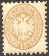 1854 - 15 Soldi Bruno, Dent. 9 1/2 (45), Perfetto, Nuovo, Gomma Originale. Ferrario. ... - Lombardy-Venetia