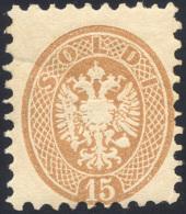 1864 - 15 Soldi Bruno, Dent. 9 1/2 (45), Gomma Originale Integra, Perfetto. Naturale Grinza Di Gomma... - Lombardy-Venetia