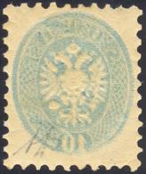 1864 - 10 Soldi Azzurro, Dent. 9 1/2, Stampa Decalcata Al Verso (44b), Gomma Originale Integra, Perf... - Lombardy-Venetia