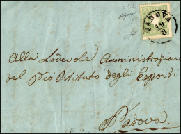 1862 - 3 Soldi Verde Giallo (35), Perfetto, Isolato Su Sovracoperta Di Lettera Da Padova 19/8 Per Ci... - Lombardy-Venetia