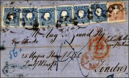 1861 - 15 Soldi Azzurro, Sei Esemplari E 10 Soldi Bruno, Tutti II Tipo (32,31), I Due Esemplari A De... - Lombardy-Venetia