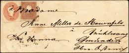 1861 - 10 Soldi Bruno, II Tipo, 5 Soldi Rosso (31,33) Annullati In Partenza Solo Con L'indirizzo Scr... - Lombardy-Venetia