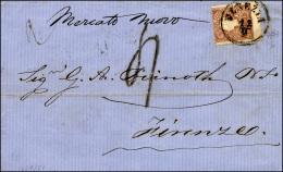 1861 - 10 Soldi Bruno (31), Dentellatura Orizzontale Fortemente Spostata, Perfetto, Su Sovracoperta ... - Lombardy-Venetia