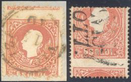 1859 - 5 Soldi Rosso, I Tipo (30), Due Esemplari Con Dentellatura Orizzontale Fortemente Spostata, U... - Lombardy-Venetia