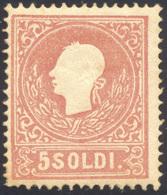 1859 - 5 Soldi, II Tipo (30), Gomma Originale, Perfetto. Enzo Diena. ... - Lombardy-Venetia