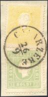 1862 - 2 Soldi Giallo, II Tipo, E 3 Soldi Verde Giallo (28,35), Perfetti, Usati Su Piccolo Frammento... - Lombardy-Venetia