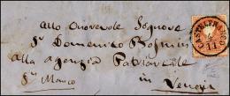 1858 - 5 Soldi Rosso, I Tipo, Formato Più Alto Per Salto Di Dentellatura E Principio Di Croce Di Sa... - Lombardy-Venetia