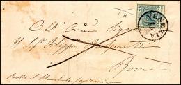 1852 - 45 Cent. Azzurro Ardesia, II Tipo (11), Perfetto, Su Sovracoperta Di Lettera Da Venezia 15/9 ... - Lombardy-Venetia