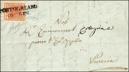 1851 - 15 Cent. Rosa, II Tipo (5), Perfetto, Su Lettera Da Portogruaro 19/1/1851 A Venezia. Prima Da... - Lombardy-Venetia