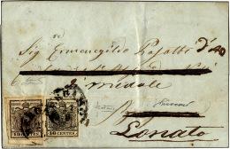1858 - 15 Cent. Rosso Vermiglio, A Macchina (20), Perfetto, Su Lettera Da Castiglione Delle Stiviere... - Lombardy-Venetia