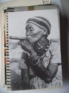 Afica ? Old Woman Smoking  ... Stichting Stuff Vrij - Postkaarten