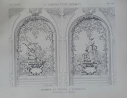 CONSTRUCTION MODERNE 1892N°13:STRASBOURG BRASSERIE DU PECHEUR  ARCHITECTE M.MEWES/ 02 GRAVURES - Livres, BD, Revues