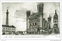 CPA- LYON. Ascenseur De La Tour, Basilique De Fourvière - Lyon
