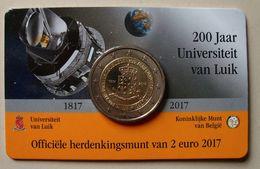 Belgie 2 Euro, Luik - Liege 2017, UNC In Coincard - België