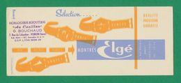 """Buvard - Montres """"ELGE"""" Horlogerie-Bijouterie - Buvards, Protège-cahiers Illustrés"""