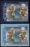 ~~~ Micronesia 1996  - Christmas  - Mi. 526/527  ** MNH ~~~ - Micronesië