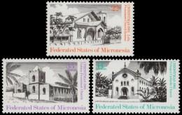~~~ Micronesia 1985 - Buildings & Architecture - Mi. 37/39 ** MNH ~~~ - Micronesië