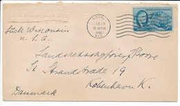 5c President Roosevelt Cover To Denmark - March 18, 1946, Luck, WIS - Verenigde Staten