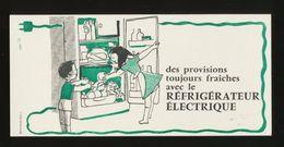 Buvard - Electricite - REFRIGERATEUR ELECTRIQUE - ( Illustrateur - HERVE BAILLE ) - Blotters