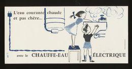 Buvard - Electricite - LE CHAUFFE-EAU ELECTRIQUE - ( Illustrateur - HERVE BAILLE ) - Blotters