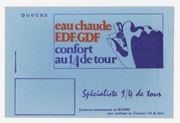 Buvard - Electricite - EAU CHAUDE Avec EDF-GDF - Electricité & Gaz