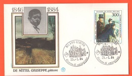 FDC Filagrano 1984 De Nittis Da 300 Lire Annullo Milano - 1946-.. République