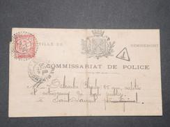 FRANCE - Taxe De Dinoze De St Laurent Sur Avis De Commissariat De Police De Remiremont En 1900  - L 9257 - Lettere Tassate