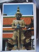 Thailand Bangkok Buddha Temple A Guardian - Thailand