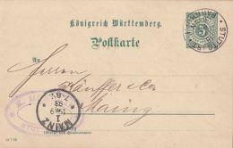 KINGDOM OF WURTTEMBERG, PC STATIONERY, ENTIER POSTAL, 1893, GERMANY - Wuerttemberg
