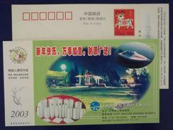 Glass Fiber Boat,China 2003 Ganzhou Nanhe Fiberglass Industry Advertising Pre-stamped Card - Factories & Industries