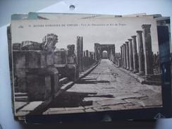 Algerije Alger Algérie Timgad Ruines Romaines Voie Du Décumanus - Algerije