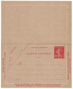 SUPERBE ENTIER POSTAL NEUF TTB CARTE LETTRE Type SEMEUSE 40c (ROUGE OU VERMILLON) - Entiers Postaux